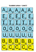 Scrabble letters - Level 1 and 2
