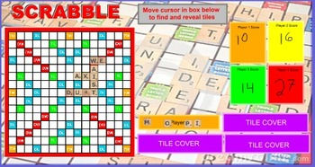 graphic relating to Printable Scrabble Board Pdf identified as Scrabble Board Worksheets Coaching Materials TpT