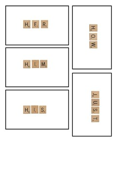 Scrabble themed Flashcards