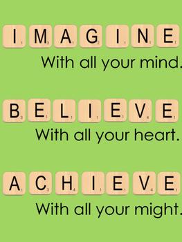 Scrabble themed motivational poster