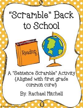 "Scramble Back to School: A ""Making Complete Sentences"" Activity"