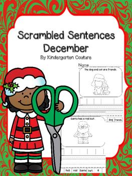 Scrambled Sentence Worksheets -December