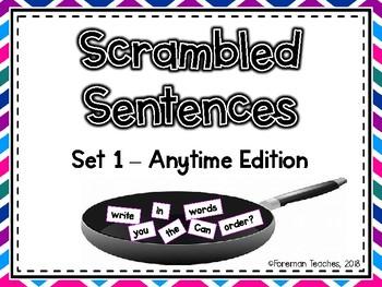 Scrambled Sentences - Set 1 - Anytime Edition