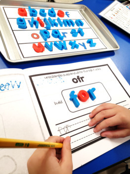 Scramble Sight Word Center-EDITABLE