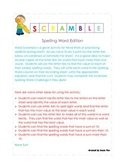Scramble Spelling Word Game