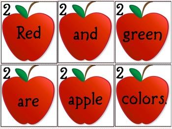 Scrambled Apple Sentences
