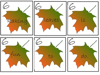 Scrambled Autumn Sentences