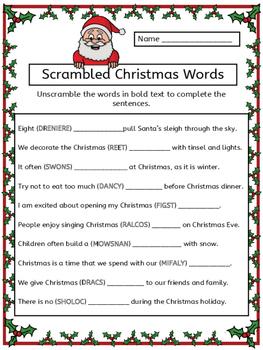 scrambled christmas words worksheet by ms presto tpt. Black Bedroom Furniture Sets. Home Design Ideas