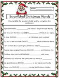 Scrambled Christmas Words Worksheet