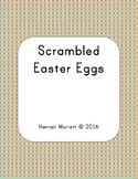 Scrambled Easter Egg Word Work