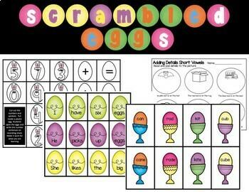 Scrambled Eggs Literacy and Math