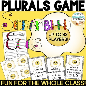 Plural Nouns Review Game: Scrambled Eggs!