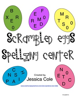Scrambled Eggs! Spelling Center (Two Centers)