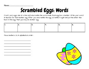 Scrambled Eggs: Word Building