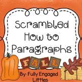 Scrambled How To Paragraphs Fall