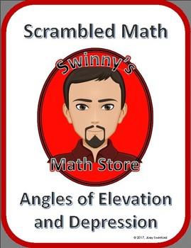 Scrambled Math: Angles of Elevation and Depression