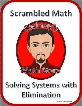 Scrambled Math: Solving Systems using Elimination Method