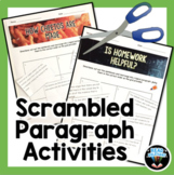 Scrambled Paragraph Activity-cut and paste to practice tex