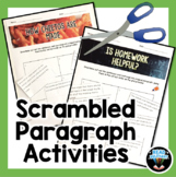Scrambled Paragraph Activity-cut and paste to practice text structure