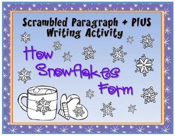 Scrambled Paragraph + Plus: How Snowflakes Form