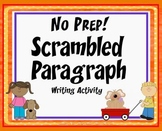 Scrambled Paragraph Writing Activity