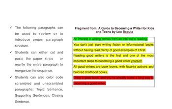 Scrambled Paragraphs