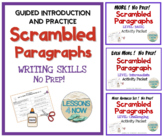 Scrambled Paragraphs  4-in-1 BUNDLE Activity Packets