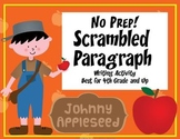 Johnny Appleseed: Scrambled Paragraph Writing Activity