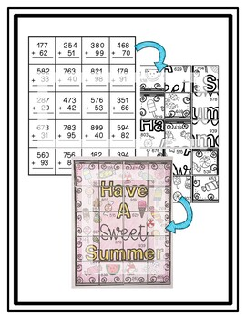 Scrambled Pictures   Addition and Subtraction   (Summer Theme)