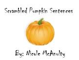 Scrambled Pumpkin Sentences
