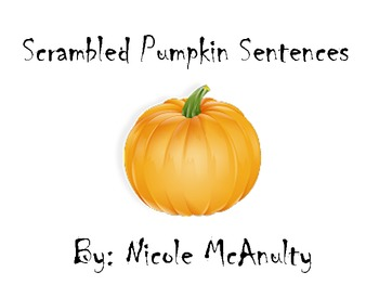 Scrambled Pumpkin Sentences