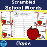 Scrambled School Words Game with QR Codes