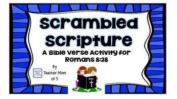 Scrambled Scripture Bible Verse Memory Work for Romans 8:28