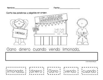 Scrambled Sentence in Spanish ~ Oración Mezclada