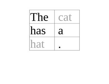 Scrambled Sentences #1 Short Vowel a Rhyming Words /Phonics/CVC Words