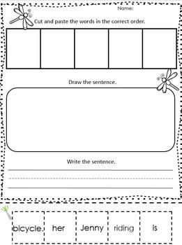 Scrambled Sentences Worksheets