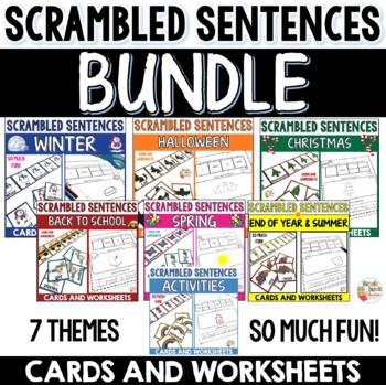 Sentence Scramble Worksheets - BUNDLE
