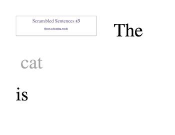 Scrambled Sentences #3: Short Vowel a Rhyming Words/Phonics/CVC Words/
