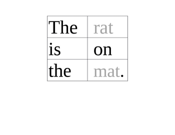 Scrambled Sentences #6: Short Vowel a Rhyming Words/Phonics/CVC Words
