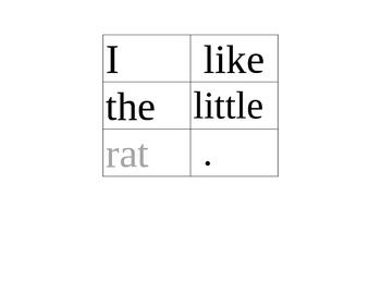 Scrambled Sentences #8: Short Vowel a Rhyming Words/Phonics/CVC Words/