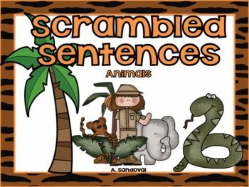 Scrambled Sentences ANIMALS in ENGLISH