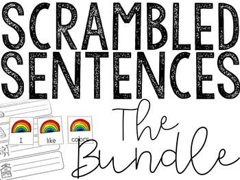 Scrambled Sentences All Year Long! (The Bundle)