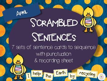 Scrambled Sentences - April
