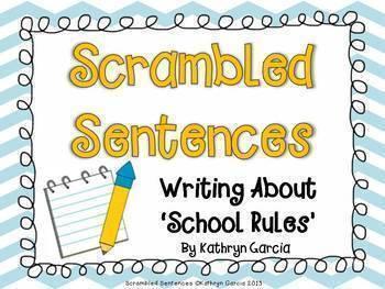 Scrambled Sentences:  'Writing About' Series BUNDLE