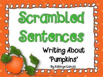 Scrambled Sentences Writing About Series BUNDLE