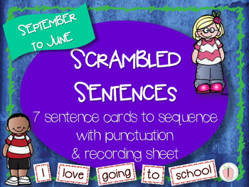 Scrambled Sentences - BUNDLE