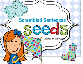Scrambled Sentences Plants Daily Word Work Morning Learning