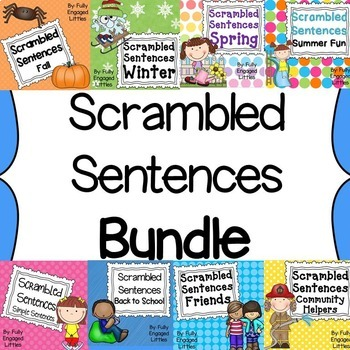 Scrambled Sentences Bundle