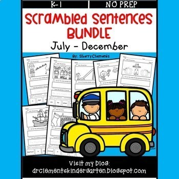 Scrambled Sentences Bundle (July-December)