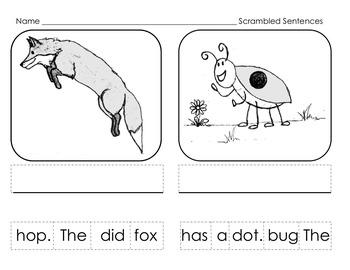 Scrambled Sentences: CVC